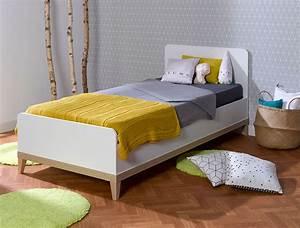 Lit Enfant Garcon : lit enfant evidence blanc h tre 90x200 au design ~ Farleysfitness.com Idées de Décoration