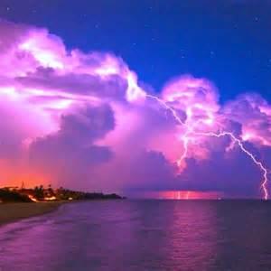 Purple Lightning Storm