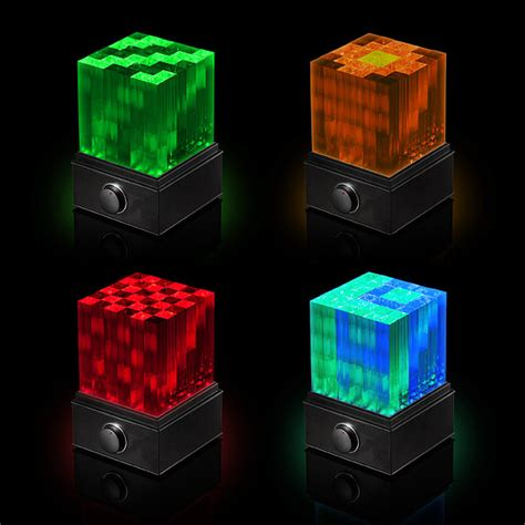 Speakers With Lights by Supernova Led Light Show Bluetooth Speaker Cube The