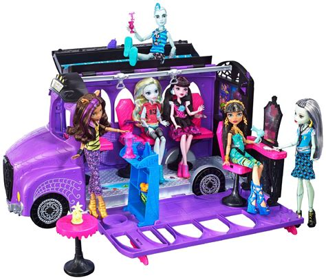 Monster High Deluxe School Bus Spa Playset Ebay
