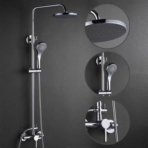 shower heads and faucets contemporary shower faucet with 8 inch shower