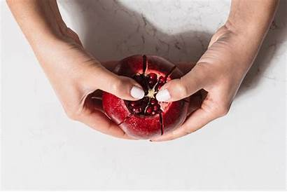 Pomegranate Mess Seeds Fruit Cut Dom Without