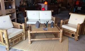 Canapé En Bambou : salon en bambou vente abris de jardin en bambou et mobilier exotique ~ Melissatoandfro.com Idées de Décoration