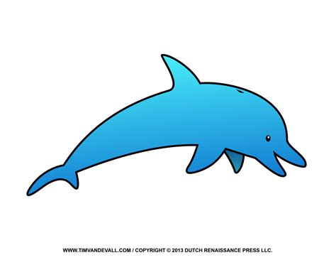Cartoon Dolphin Drawings Jumping