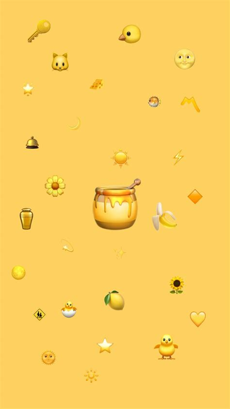 cute aesthetic yellow wallpapers wallpaper cave