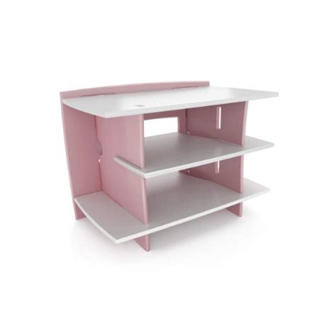 legare pink and white desk legare kids furniture gaming center stand pink and white