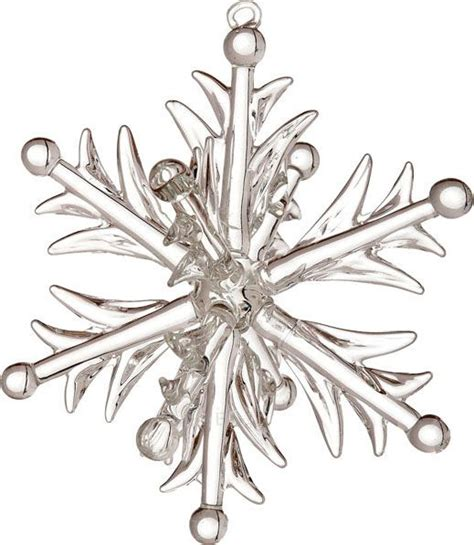 heirloom glass snowflake ornament  design