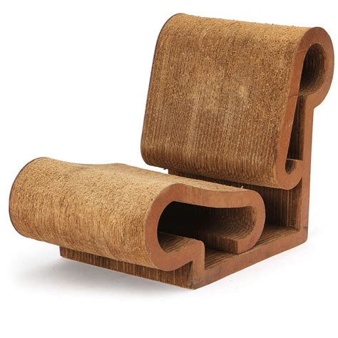 early easy edges lounge chair by frank gehry at 1stdibs