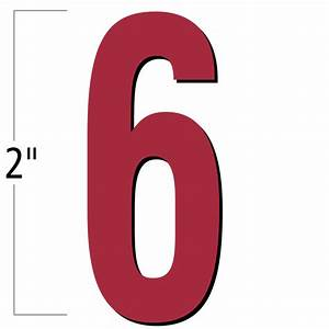 2 inch die cut magnetic number 6 red sku nl mg 2 rd 6 With die cut magnetic letters