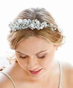 Silver Crystal Bridal Headband Hair Accessories NYC