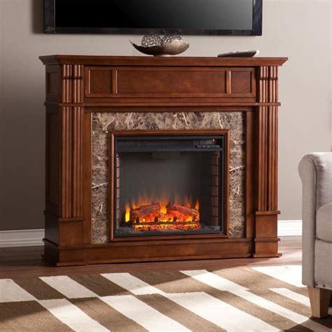 southern enterprises highgate electric media fireplace  maple fe