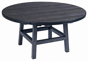 37quot round cocktail table with legs black traditional With black round outdoor coffee table