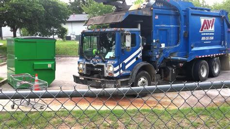 where can i dump a blue garbage truck dumping blue dumpster