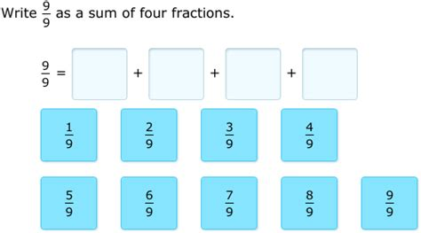 ixl decompose fractions 4th grade math