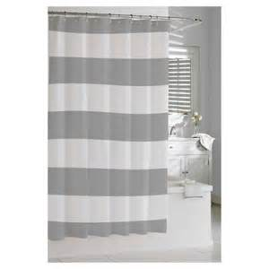 kassatex hton stripe shower curtain grey target
