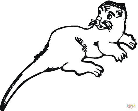 Ausmalbild Otter Schaut Zurck Ausmalbilder Kostenlos