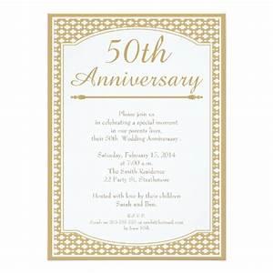 50th wedding anniversary invitation zazzlecom With sample of golden wedding anniversary invitation
