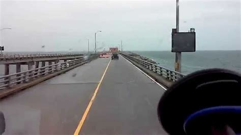 Driving Over The Chesapeake Bay Bridge Tunnel