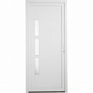 porte d39entree pvc manhattan primo poussant droit h215 x With porte d entrée pvc avec plateau bois salle de bain