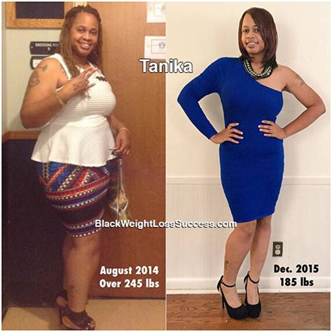 tanika lost  pounds black weight loss success