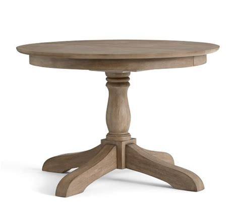 Owen Extending Pedestal Dining Table, Weathered Gray
