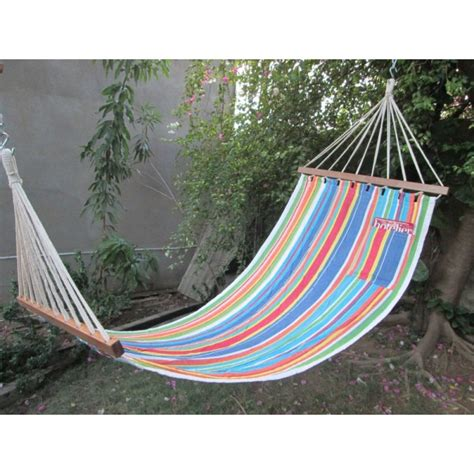 Buy Hammocks by Buy 11 Ft Colorful Fabric Hammock In India