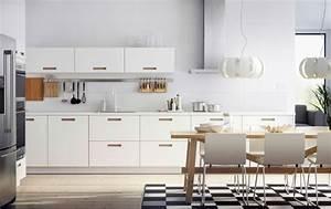 Photo cuisine ikea 45 idees de conception inspirantes a voir for Idee deco cuisine avec meuble scandinave bois et blanc