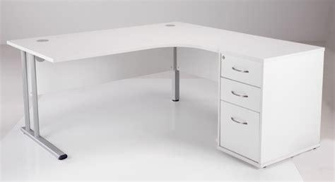 Borgsj Corner Desk White by Right Corner Desk And Pedestal Offer Flite