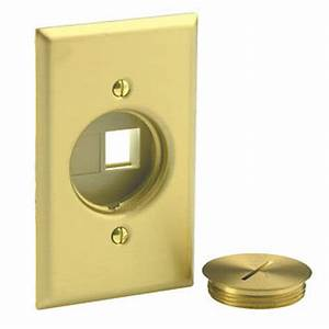 brass floor outlet cover plate blank data jacks leviton With floor receptacle cover plate