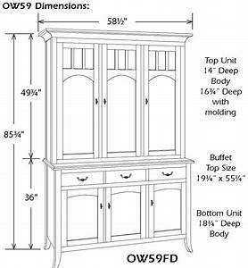 Kitchen Cabinet Door Size Chart Old World Three Door China Hutch Ohio Hardwood