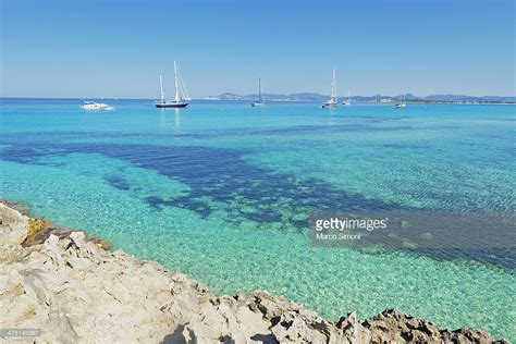 Ses Illetes Beach Formentera Balearic Islands Spain Stock