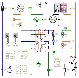 A Battery Powered Burglar Alarm Circuit
