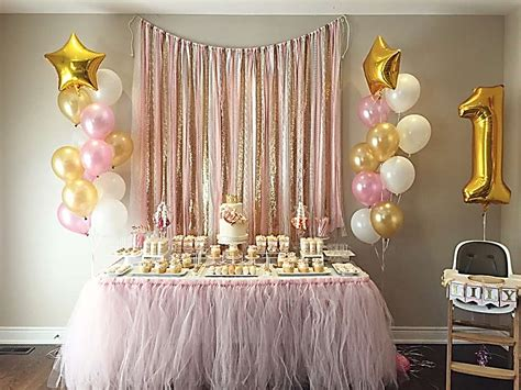 celebrate  babys  birthday  style pink gold