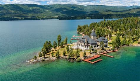 montanas shelter island estate  listed   million homes   rich
