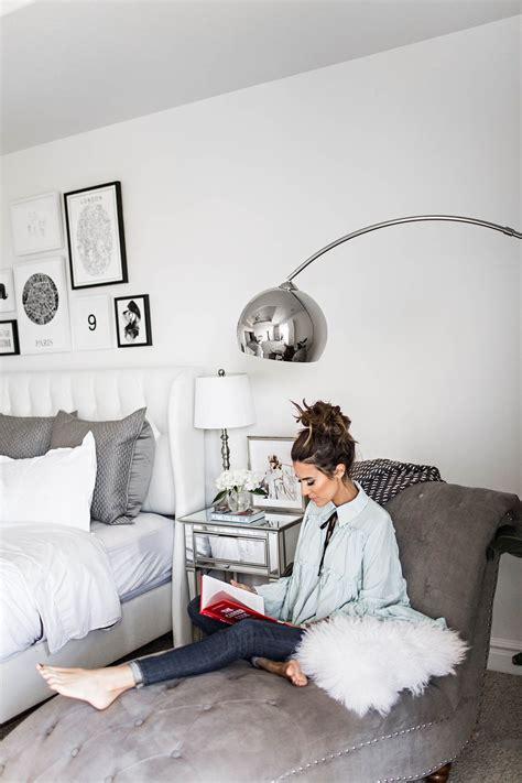 black grey  white bedroom interiors interior design