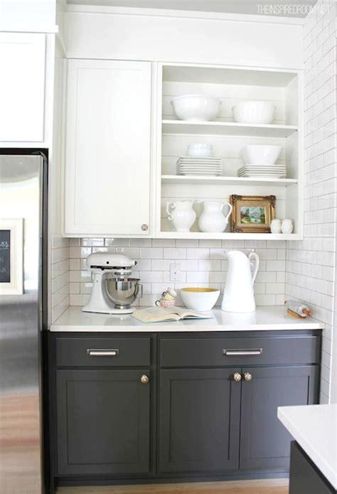 white upper cabinets grey lower white upper cabinets gray lower cabinets transitional 262 | cd7ba47fc17f
