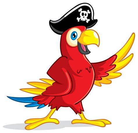 Parrot Clip Pirate Clipart Parot Pencil And In Color Pirate Clipart