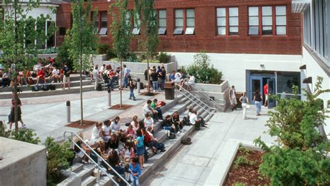 central catholic school courtyard seating shapiro didway