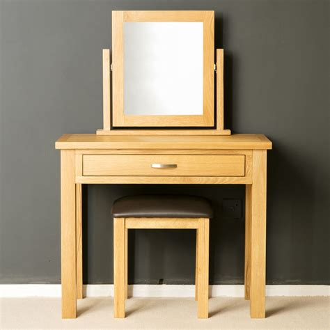 dressing table vanity sets oak dressing table set light oak with stool