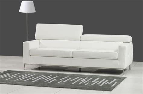 canap 233 3 places en cuir italien xenia blanc mobilier priv 233
