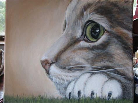 chat sur toile acrylique dessins et peintures de chevaux