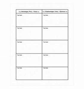 pros and cons chart template word templates With pro con list template