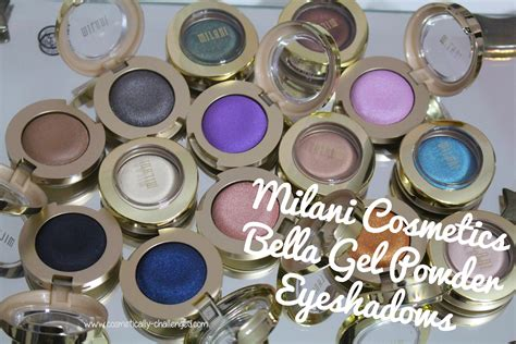 milani cosmetics bella gel powder eyeshadows swatches