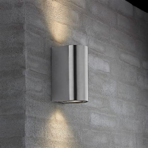 nordlux canto maxi outdoor wall light stainless steel