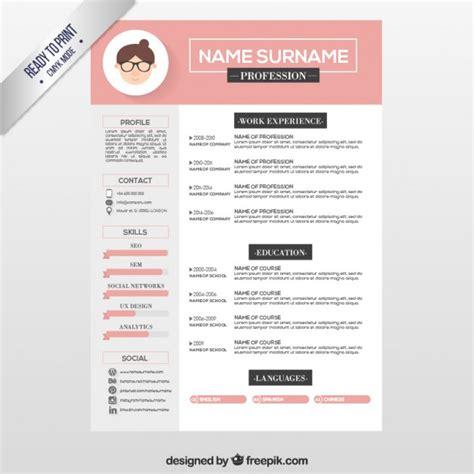 Template Untuk Resume by 12 Desain Template Resume Cv Unik Dan Kreatif Gratis