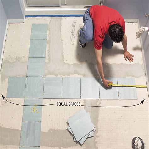 Fliesen Legen Boden by How To Lay Tile Install A Ceramic Tile Floor In The
