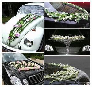 Decoration Voiture Mariage : decoration voiture mariage composition florale moderne maille fer car decor pinterest ~ Preciouscoupons.com Idées de Décoration