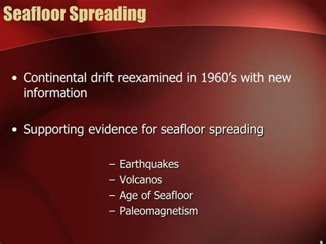 Evidence For Seafloor Spreading Has Come From by Ppt Disasters Powerpoint Presentation Id 1407461