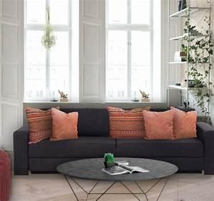 Coussin Pour Canapé Gris : coussin rectangulaire cuivre pour canape gris anthracite ~ Teatrodelosmanantiales.com Idées de Décoration