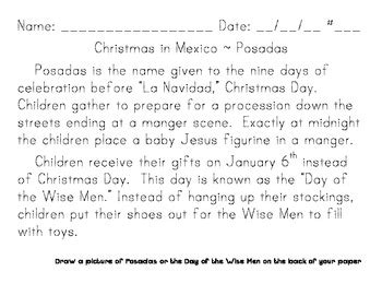 christmas around the world handwriting practice by esl with adelle